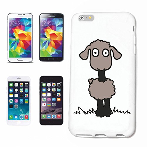 Handyhülle iPhone 5 / 5S Schafe Cartoon Spass Fun Kult Film Serie Dvd Cartoon Spass Fun Kult Film Serie Dvd Hardcase Schutzhülle Handycover Smart Cover für Apple iPhone ... in Weiß ... Schlank & schön,