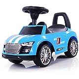 Coche para bebe en 5 colores: El coche correapasillos perfecto para su pequeño piloto de carreras. Coches para ninos Diseño único, óptica sportiva, como un coche de carreras verdadero, Color:Azul
