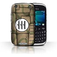 Custodia/Cover Rigide/Prottetiva STUFF4 stampata con il disegno Aereo caccia Ala per Blackberry Curve 9320 -