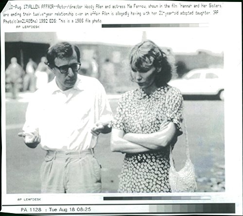 Vintage photo of Mia Farrow with Woody Allen