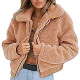 XWBO Damen Kurz Pelzmantel Kunstpelz Pelzjacke Winter Warm Faux Pelz Jacke Mantel Wintermantel Outwear Flauschiges Parka