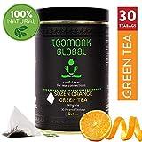 Teamonk Nilgiri Sozen Orange Detox Green Tea for Weight Loss, 30 Teabags