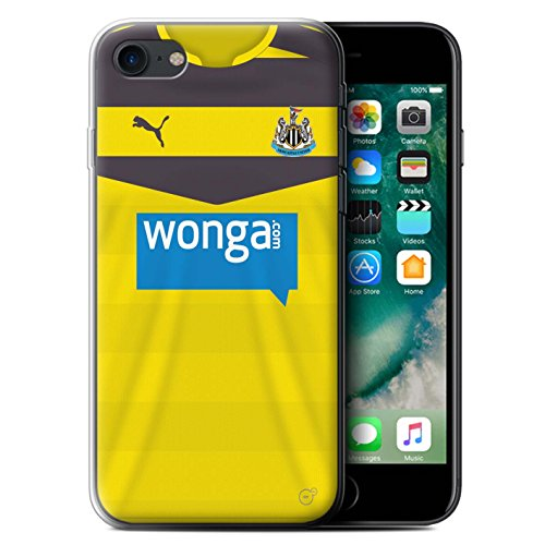Offiziell Newcastle United FC Hülle / Gel TPU Case für Apple iPhone 7 / Shelvey Muster / NUFC Trikot Home 15/16 Kollektion Torwart