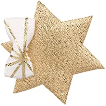 Many Frocks & Gold Polyester Star Bow Hair Clip for Girl