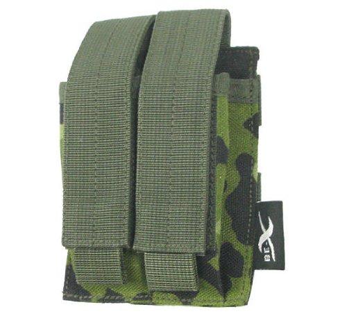 BE-X Magazintasche, MOLLE für 2 Pistolenmagazine oder Tools/Messer - dänisch tarn