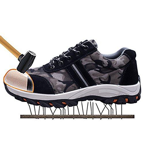 SITAILE Zapatos de Seguridad para Hombre Calzado de Trabajo con Punta de  Acero Zapatillas Botas de c7427f789e7c