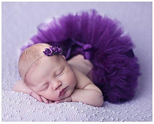 Fotografie Prop für Baby Girl 0–3 Monate Tutu Rock Kopfschmuck Neugeborene Rosa Outfits (Und Rosa Lila Tutu)