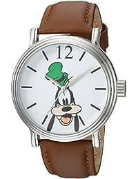 Disney Men's 'Goofy' Quartz Metal Casual Watch, Color:Brown (Model: WDS000340)