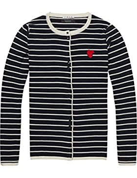 Scotch & Soda Basic Cardigan with Small Tippings In Contrast Colour + Yarn, Chaqueta Punto para Mujer