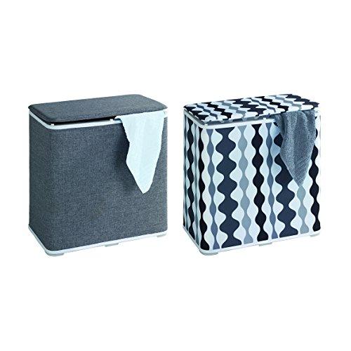 Wenko 62010100 Wäschetruhe Galdino Wäschesammler, Fassungsvermögen 65 L, 49 x 50 x 27 cm, grau - 4