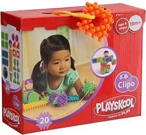Playskool - 09377 - Jouet Premier Age - Jeu de Construction - Clipo Grande Boite - 20 pièces - Basic Figure Set