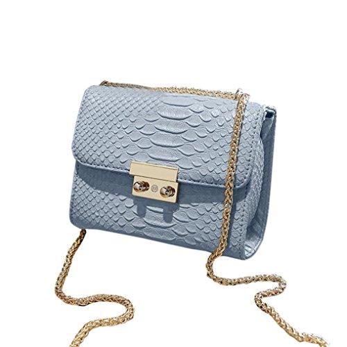 Transer Women Shoulder Bag Popular Girls Hand Bag Ladies PU Leather Handbag, Borsa a spalla donna Pink 18cm(L)*14(H)*8cm(W) Blue