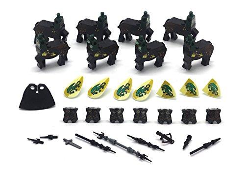 MAGMABRICK Centaur Kostüm mit Helm amour und Waffe im Mittelalter. Kompatibilität mit LEGO Mini-Figur.