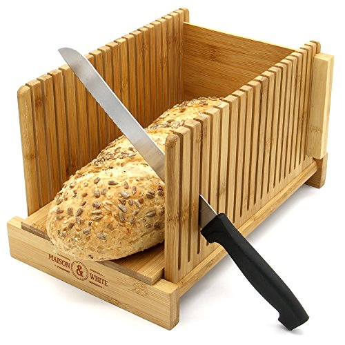 Tabla de cortar de bambú para pan, ajustable y plegable, M & W