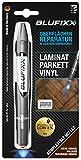 BLUFIXX Spezialset Laminat/Parkett/Vinyl Eiche-Dunkel | Fußboden Reparaturstift | Oberflächenreparatur | Mit Lichtgeschwindigkeit reparieren