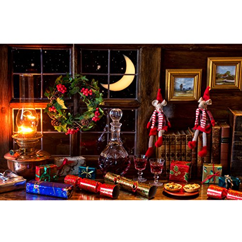 twein Geschenk Fenster Weihnachten Foto Kulissen Fotografie Hintergrund Studio Prop ()