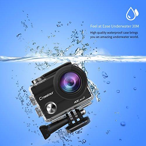 Action-Cam-4K-Wifi-Ultra-HD-Impermeabile-Crosstour-Camera-Subacquea-2-Pollici-LCD-170Grandangolare-2-Batterie-Ricaricabili-1050-mAh-e-Kit-Accessori