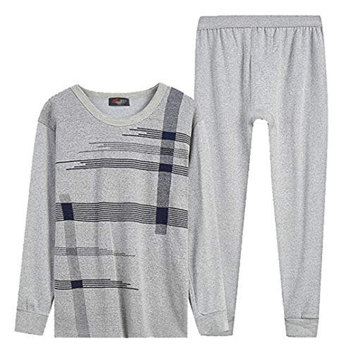 a7265b62eed1 Femaroly Men's Cotton Thermal Underwear Set Autumn Cozy Long Johns Thermals  Light Gray 813 L