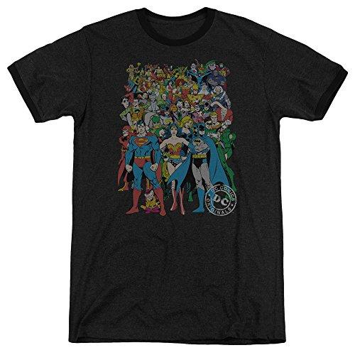 DC Comics Herren T-Shirt Schwarz