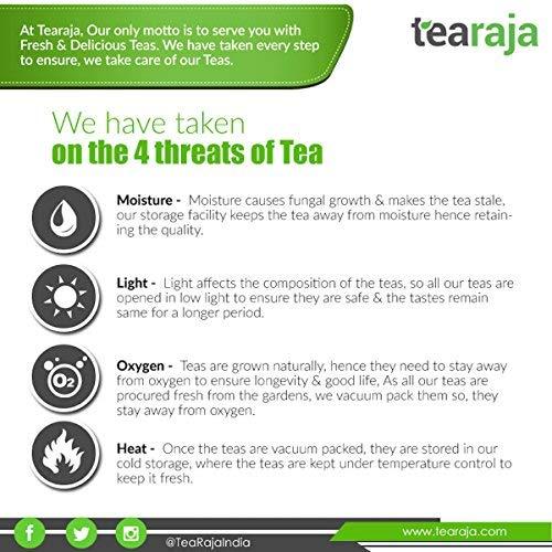 TeaRaja Temi Organic Black Tea 100 GMS (Unblended Tea from Temi Tea Estate)