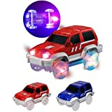 Lunji 1pc Circuit Voiture Cars Lumineux Voiture pour Magic Track