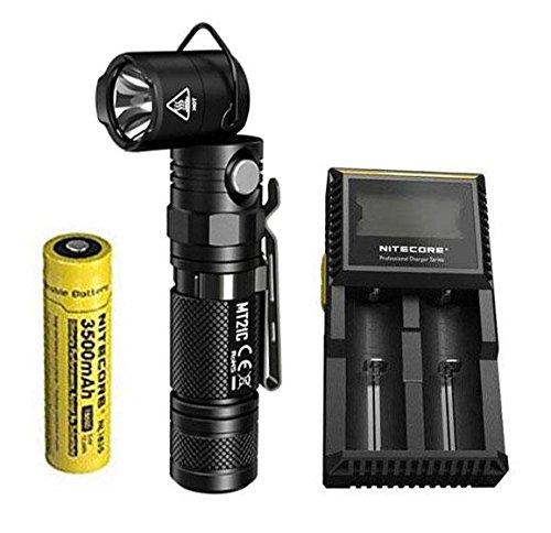 Combo: NITECORE MT21C 1000 Lumen 90 Degree Adjustable Flashlight w/NL1835 Battery & D2 Charger - Max 90 Caps