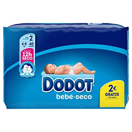 Dodot - Pañales para bebé, talla 2, 40 unidades