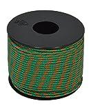 Corderie italiane - 006040941 cielo cuerda trenza tejida, verde/naranja
