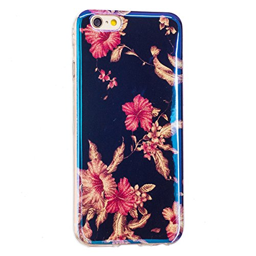 iPhone 6S Plus Hülle, iPhone 6 Plus Hülle, Gift_Source [ Rhododendron ] Ultra Dünn Weiche Silikon Schutzhülle TPU Bumper Case Schutz Handy Hülle Case Tasche Etui Backcover Slim case für iPhone 6S Plus E1-Rhododendron