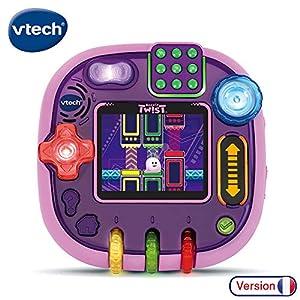 VTech Rockit Twist Console - Rose Translucide - Electrónica para niños (Rosa, 4 año(s), Niño/niña, 10 año(s), Francés, Batería)