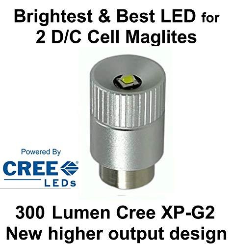 Maglite LED Upgrade Modul Birne - für 2 oder 3 C/D-Cell Taschenlampen 300 Lumen modul, UpLED -