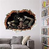 YCRD Wandaufkleber Halloween 3D Wandbilder Weiblichen Geist Wasserdicht DIY Layout Wohnzimmer Schlafzimmer Wanddekoration,B