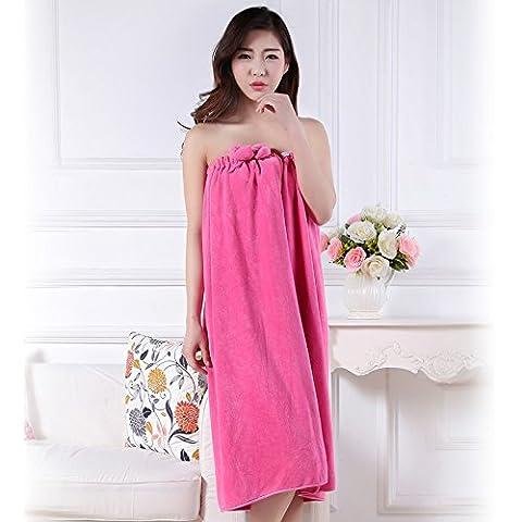 Adult ladies bath skirt tube top towels,Red