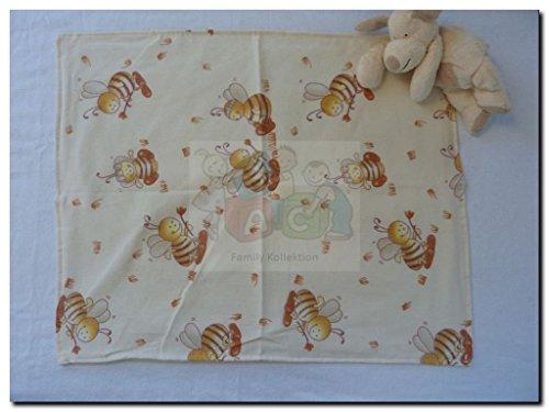 Moltontücher / Baumwolltücher 2er Pack bedruckt wasserdicht mit Folieneinlage (Biene)