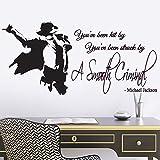 Wandtattoo Michael Jackson Smooth Criminal Songtext-Zitat