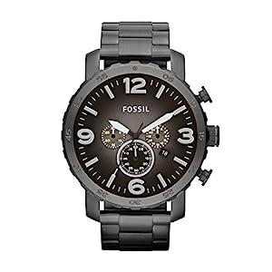 Fossil Herren Analog Quarz Uhr mit Edelstahl Armband JR1437