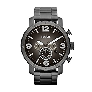 Fossil Nate Chronograph Grey Dial Men's Watch – JR1437