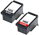Prestige Cartridge PG-545XL CL-546XL Set of 2 Compatible Ink Cartridges for Canon Pixma MG2450, MG2550, MG2550S, iP2850, MG2950, MG3050, MX495 - Black / Colour