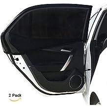 carefreeenjoy - parasol protector universal de coche para ventanillas laterales traseras, antirrayos UV, para proteger bebés, niños, perros, etc.| gran calidad material de malla|1Set de 2unidades (negro, 113 x 50 cm)