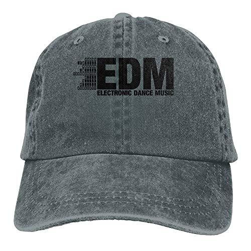 SWOOUI Electro Dubstep EDM Music Dance Electronic Minimal Cowboy Visor Rear  Cap Adjustable Cap fd28cbaccdc4