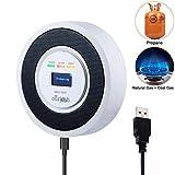 Alarma de Gas, Detector de Gas LPG/Natural/Ciudad, Alimentado por USB Sensor De Fugas De Gas Combustible Butano/Propano/Metano, con Advertencia de Son