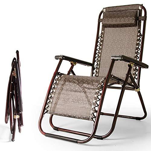 ZDYLM-Y Relax-liegestuhl Klappbar, Tragbare verstellbare Falten Lounge Lehnstuhl mit Kopfstütze, für Patio Strand Pool Side Außen Camping
