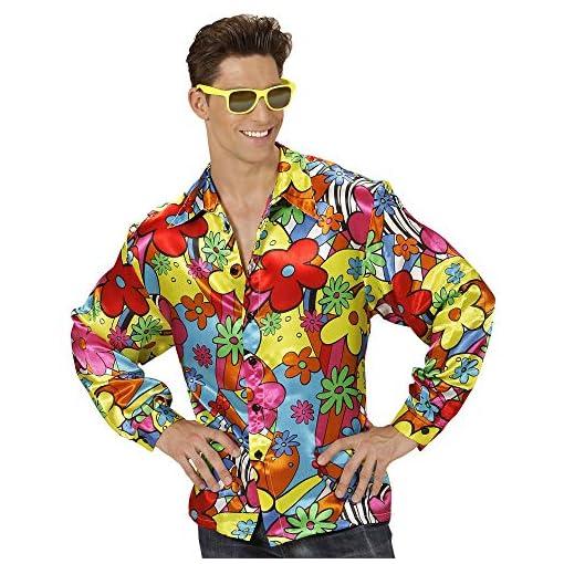 Widmann-Erwachsenenkostm-Flower-Power-Hemd
