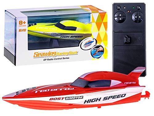 BSD RC Ferngesteuertes Motorboot - Seawing Rennboot - 2.4 GHz - Rot