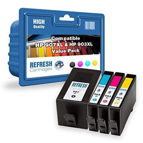 Refresh Cartridges Rigenerate Cartuccia di Inchiostro Ricambio per hp hp 907XL (Multi-Colore)