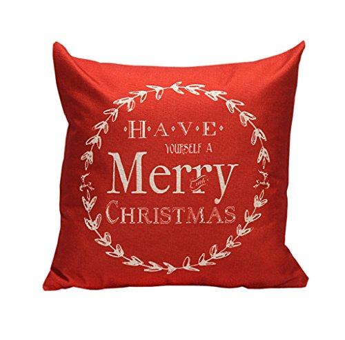 Federa per cuscino, tefamore Vintage Natale lettera divano letto Home decorazione Festival federa