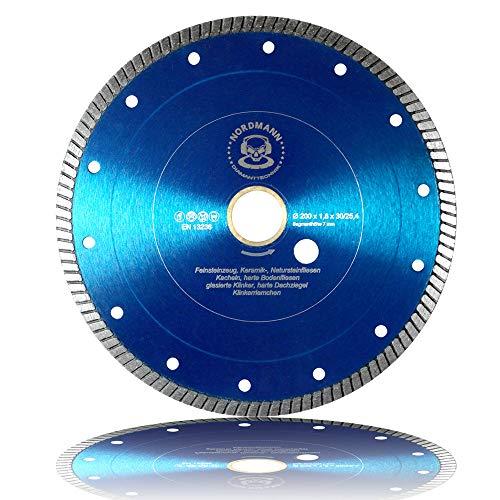 Diamant-Trennscheibe - NORDMANN FS-850-200 x 25,4/30 für Fliesen, Feinsteinzeug, Keramik, Naturateinfliesen etc. -
