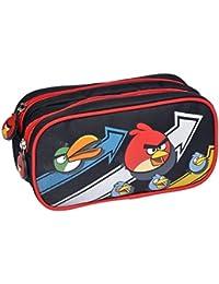 Angry Birds Poche Supplémentaire Trousse Rectangle 2 Compartiments, (Noir)
