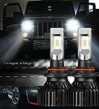 KOOMTOOM Kit LED 9005 HB3 Lampadine Testa Capo 60W Ultra Luminoso 8000LM ZES Chip 360 Gradi Brighting Lifespan Lungo per Auto 6500K (1 coppia)