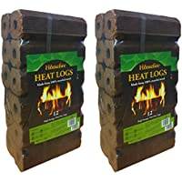 Homefire High Energy Ultra Dry Heat Logs Open Fire Log Eco Wood Fuel (24 Heat Logs)